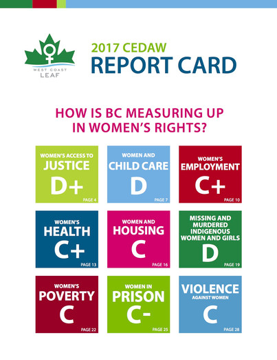2017 Report Card on BC's Women's Rights - Not Making the Grade