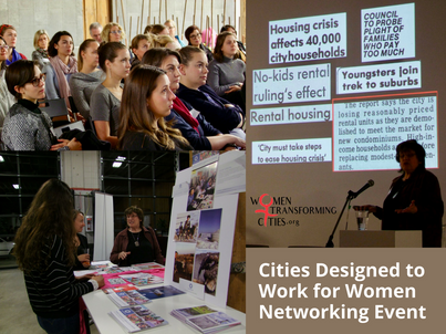 "Thank you to all who made the ""Cities Designed to Work for Women Networking Event"" a succe"