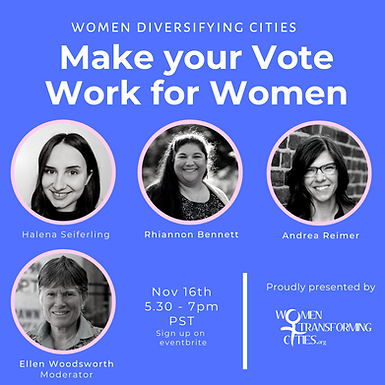 WTC webinar - Making Your Vote Work for Women