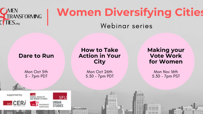 Women Diversifying Cities: Webinar Series
