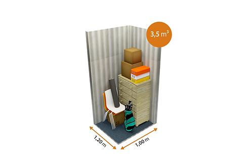 Storage room of 3.5 m³