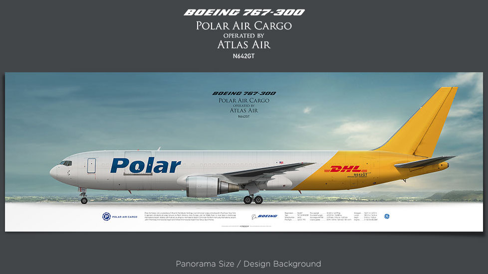 Boeing 767-300 Polar Air Cargo, plane prints, retired pilot gift, aviation posters, airliners prints, cargo plane, jetliner