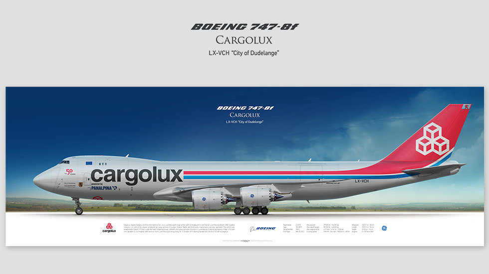 Boeing 747-8f Cargolux, gift for pilots, aviation art prints, aircraft print, custom posters, plane picture