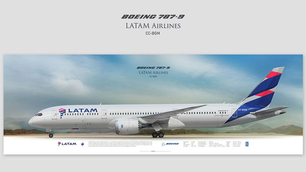 LATAM Airlines Boeing 787-9 CC-BGM