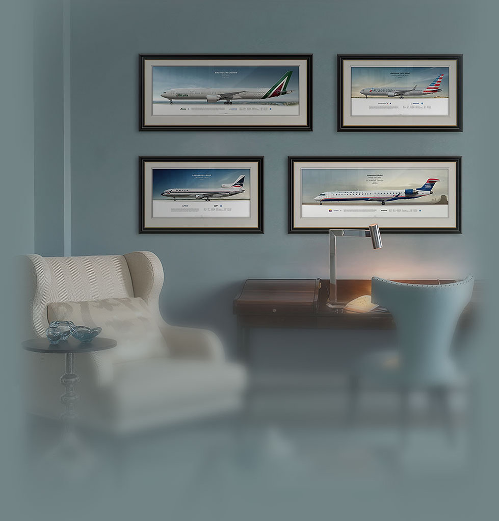 Aviaposter. Civil airplane posters, airliner profile prints, gift for pilots and enthusiasts