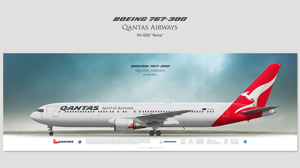 Qantas Airways Boeing 767-300 VH-OGS