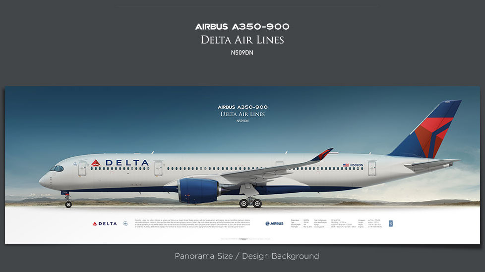 Airbus A350-900 Delta Air Lines, plane prints, airplane poster, retired pilot gift, airline prints, jetliner prints, DAL