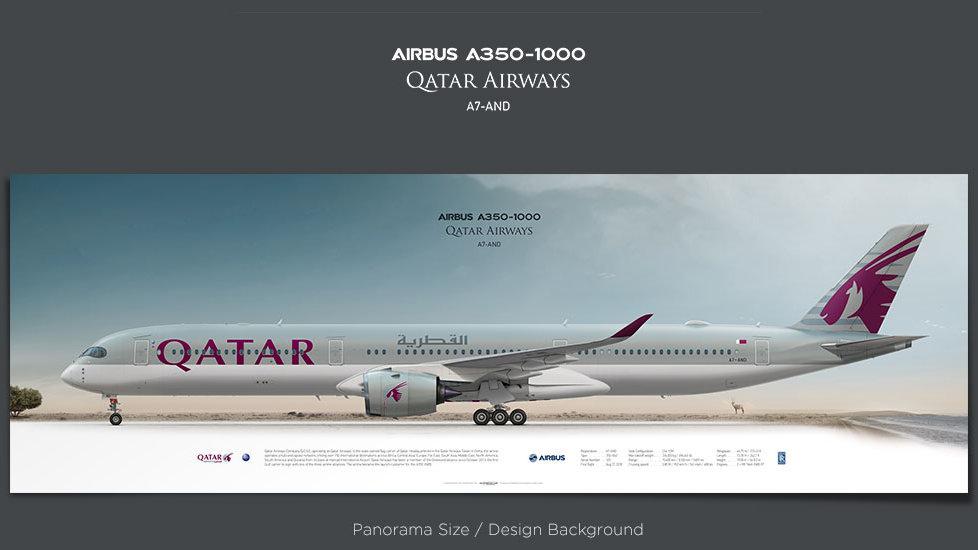 Airbus A350-1000 Qatar Airways, plane prints, retired pilot gift, aviation poster, airliners prints, XWB, QTR, civil aircraft
