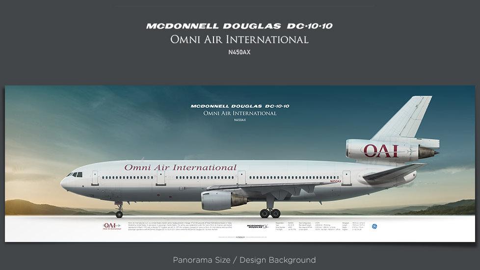 McDonnell Douglas DC-10-10 Omni Air, plane prints, retired pilot gift, aviation posters for sale, DC-10 print, trijet print