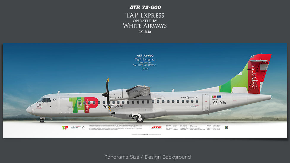ATR 72-600 TAP Express, plane prints, retired pilot gift, aviation posters, airliners prints, turboprop, regional aircraft