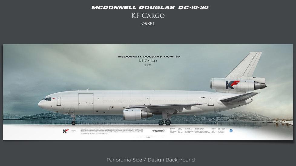 McDonnell Douglas DC-10-30 KF Cargo, plane prints, retired pilot gift, aviation posters, airliners prints, trijet plane print