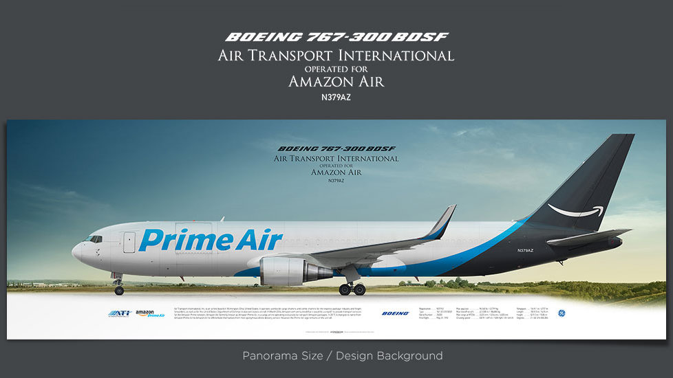 Boeing 767-300 BDSF Air Transport International, plane prints, airplane poster, retired pilot gift, airline prints, ATI