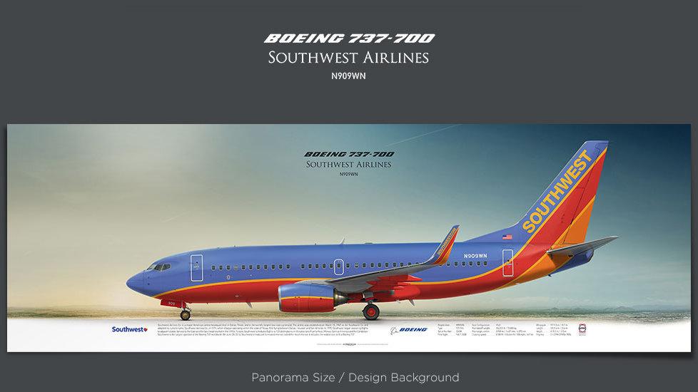 Boeing 737-700 Southwest Airlines, plane prints, retired pilot gift, aviation posters for sale, jetliner prints, airliner