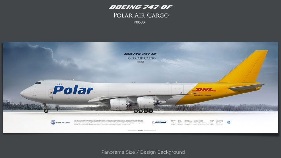 Boeing 747-8f Polar Air Cargo, plane prints, retired pilot gift, aviation posters, airliners prints, jumbo jet