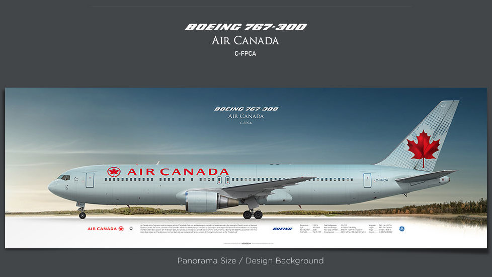 Boeing 767-300 Air Canada, gifts for pilots, aviation prints, aircraft posters, custom posters, retired pilot