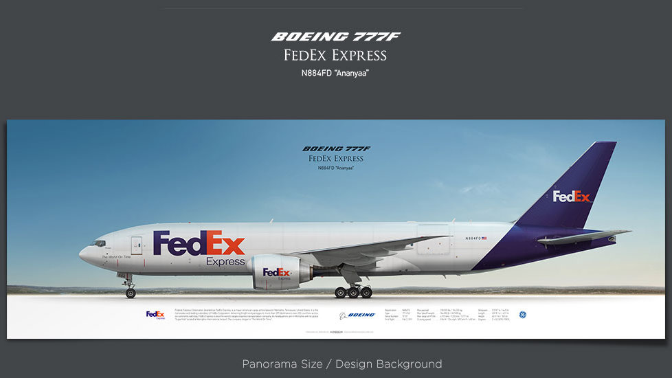 Boeing 777F FedEx Express, plane prints, retired pilot gift, aviation posters, airliners prints, cargo plane, FDX, trijet