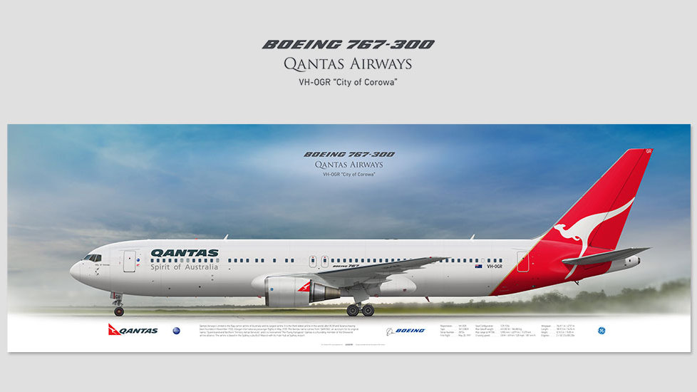 Qantas Airways Boeing 767-300 VH-OGR