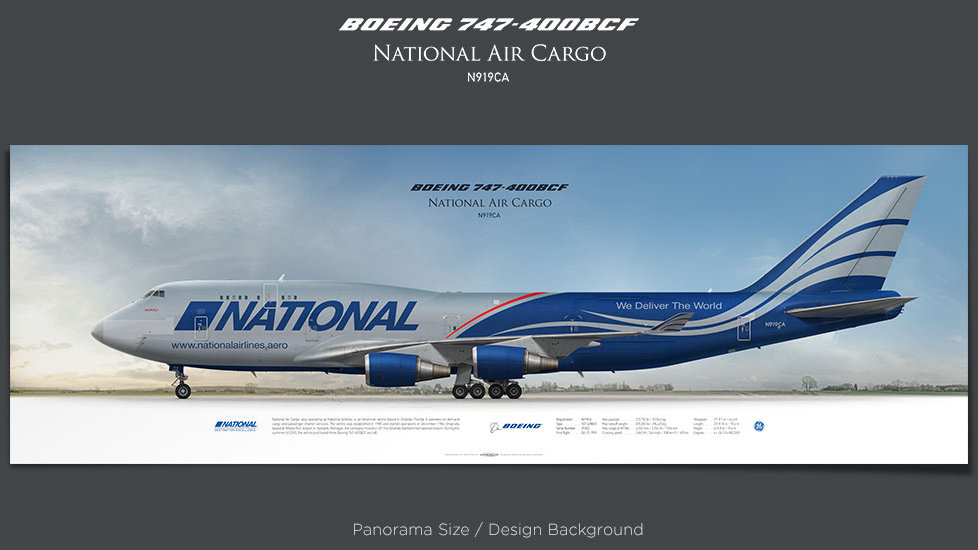Boeing 747-400BCF National Air Cargo, plane prints, retired pilot gift, aviation posters, airliners prints, jumbo jet