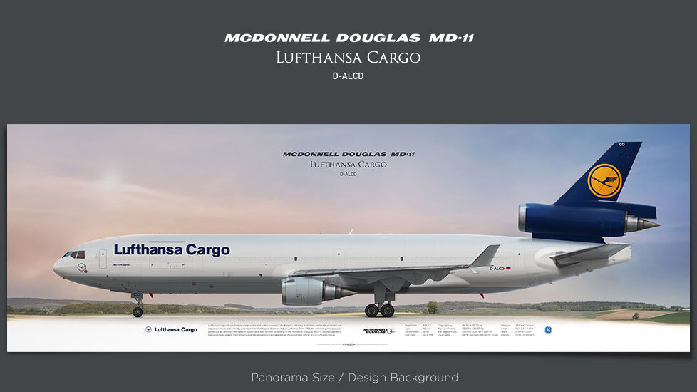 McDonnell Douglas MD-11F Lufthansa Cargo, plane prints, retired pilot gift, aviation posters, airliners prints, trijet, GEC