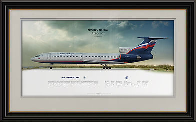 Tupolev Tu-154M Aeroflot. Aviaposter, online store civil airplane profile prints. Gift idea for pilots. Worldwide free shipping.