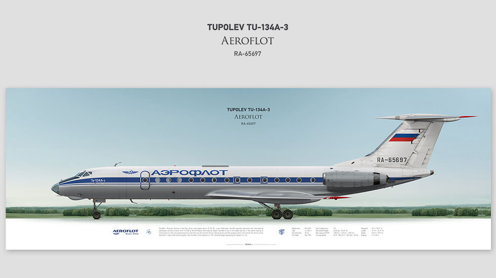 Tupolev Tu-134A-3 Aeroflot, posterjetavia, gifts for pilots, aviation, aviation art , avgeek, plane pictures, tupolev