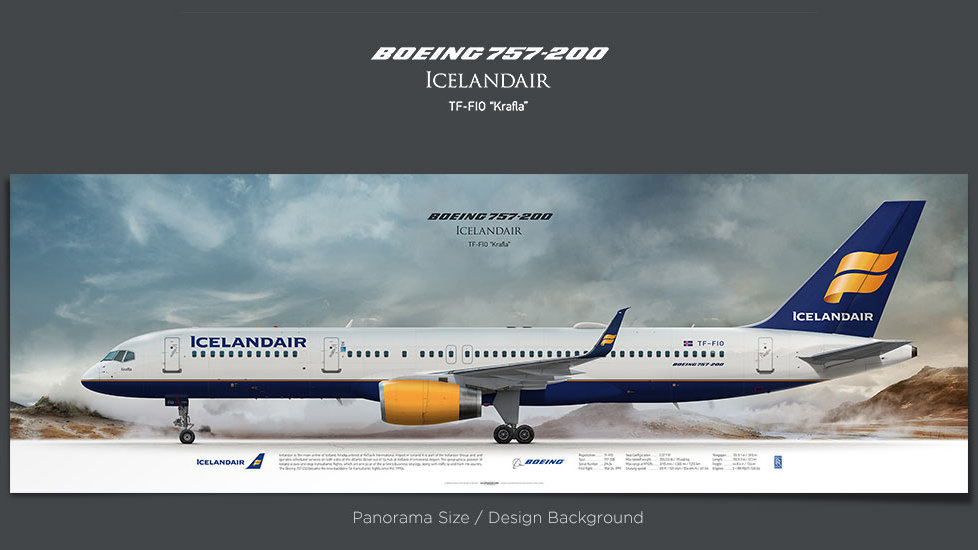 Boeing 757-200 Icelandair, gifts for pilots, aviation poster, airplane prints, custom posters, retired pilot, pilots present