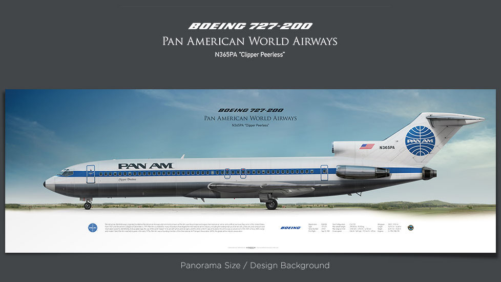 Boeing 727-200 Pan Am, plane prints, retired pilot gift, aviation posters for sale, vintage aircraft prints, trijet, ttail