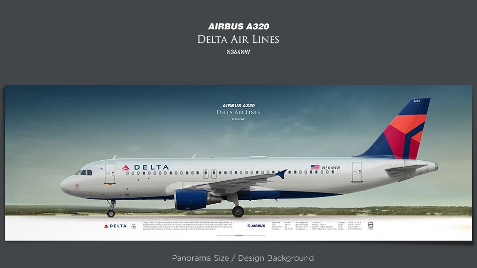 Airbus A320 Delta Air Lines, plane prints, retired pilot gift, aviation posters, airliners prints, plane image, DAL