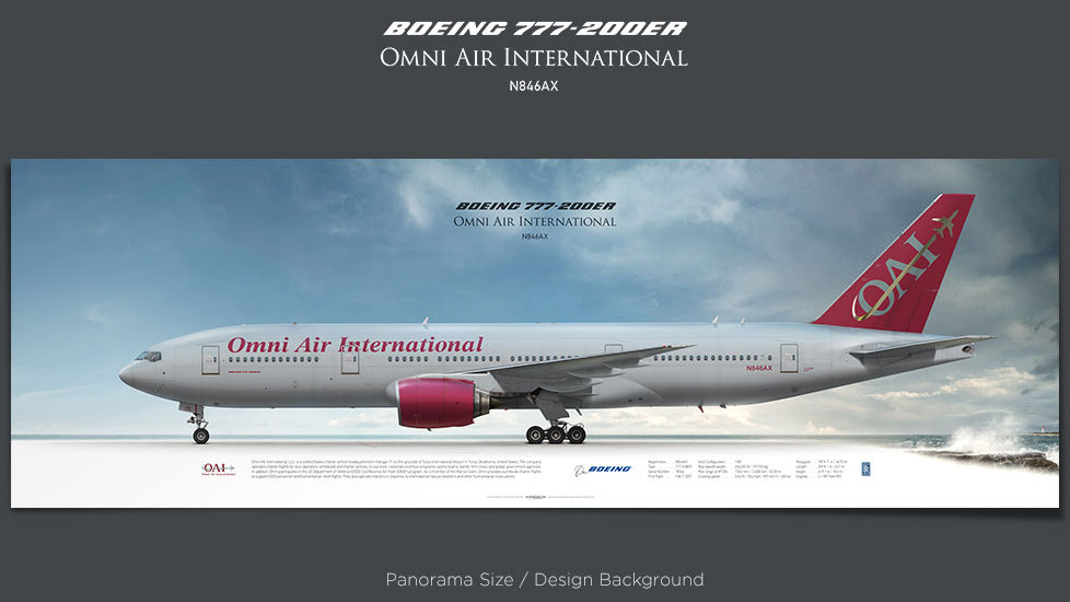 Boeing 777-200ER Omni Air International, plane prints, retired pilot gift, aviation posters, airliners prints, aircraft print