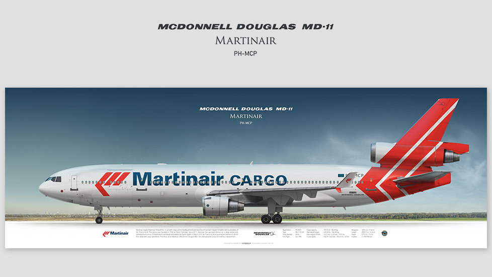 McDonnell Douglas MD-11 Martinair, gifts for pilots, aviation prints, aircraft posters, custom posters, retired pilot