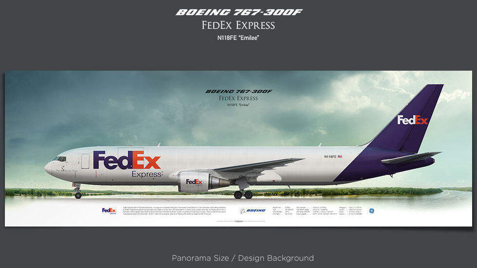 Boeing 767-300F FedEx Express, plane prints, retired pilot gift, aviation posters, airliners prints, cargo plane, jetliner