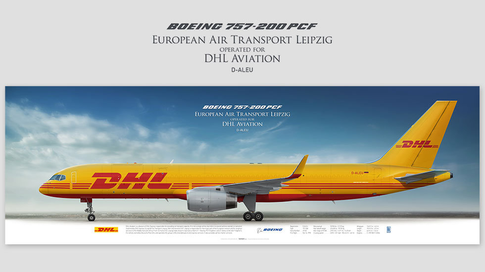 Boeing 757-200F EAT Leipzig, gift for pilots, aviation prints, airplane pictures, success wall, poster, civil airliner pilots