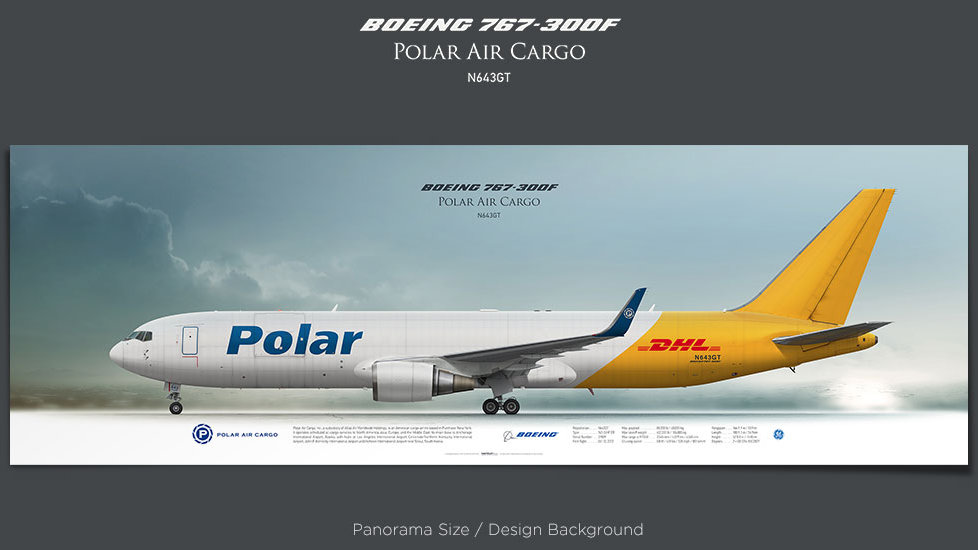 Boeing 767-300F Polar Air Cargo, plane prints, retired pilot gift, aviation posters, airliners prints, cargo plane