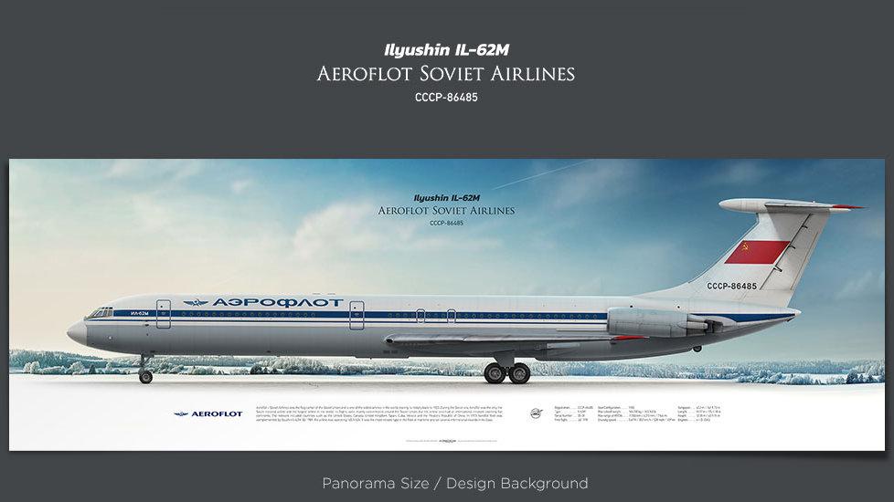 Ilyushin Il-62M Aeroflot, Soviet Airlines, plane prints, retired pilot gift, aviation posters for sale, jetliner prints, AFL