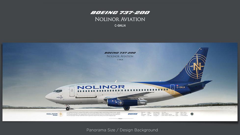 Boeing 737-200 Nolinor, plane prints, retired pilot gift, aviation posters, airliners prints, gravel kit, regional airline