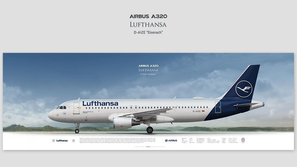 Airbus A320 Lufthansa, gift for pilots, aviation prints, pilot wall decor, avia poster, aircraft profile prints