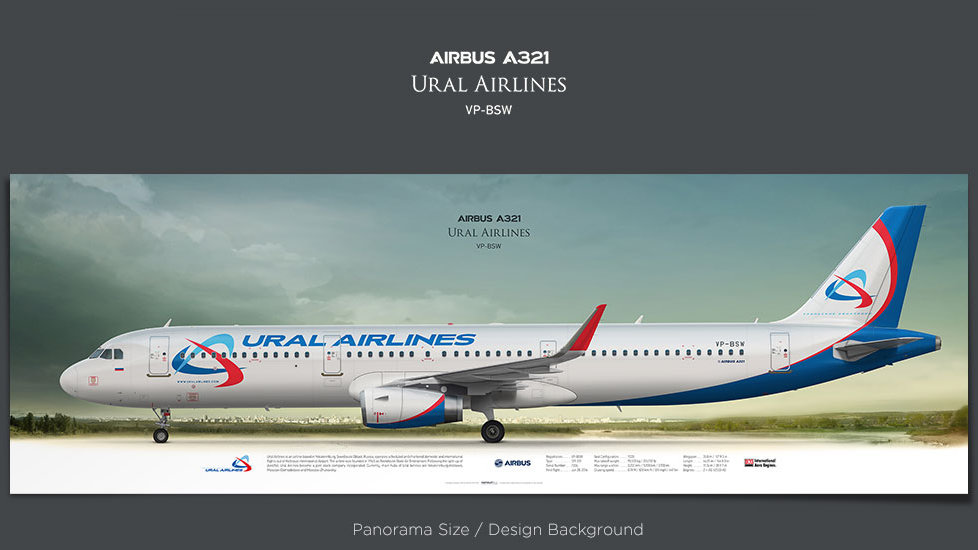 Airbus A321 Ural Airlines, plane prints, retired pilot gift, aviation posters, airliners prints, civil aircraft, SVR