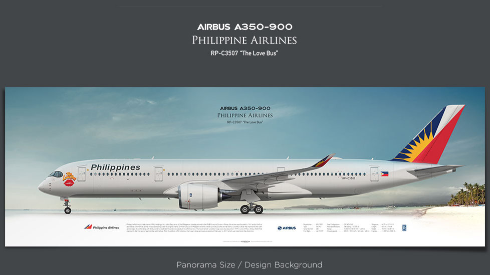 Airbus A350-900 Philippine Airlines, plane prints, retired pilot gift, aviation posters, airliners prints, civil aircraft
