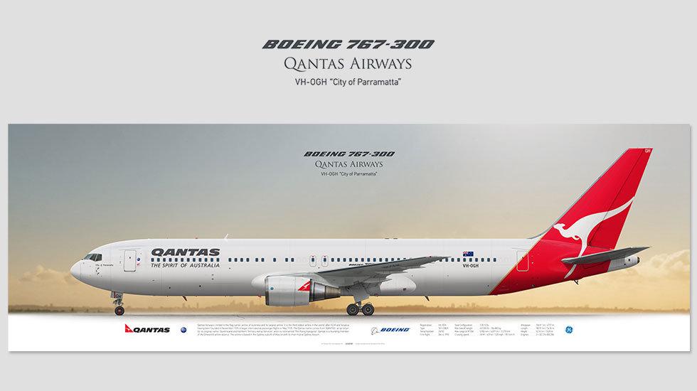 Qantas Airways Boeing 767-300 VH-OGH