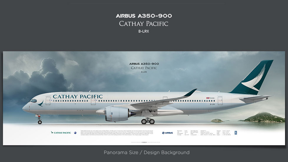 Airbus A350-900 Cathay Pacific Airways, plane prints, airplane poster, retired pilot gift, airline prints, jet prints, XWB