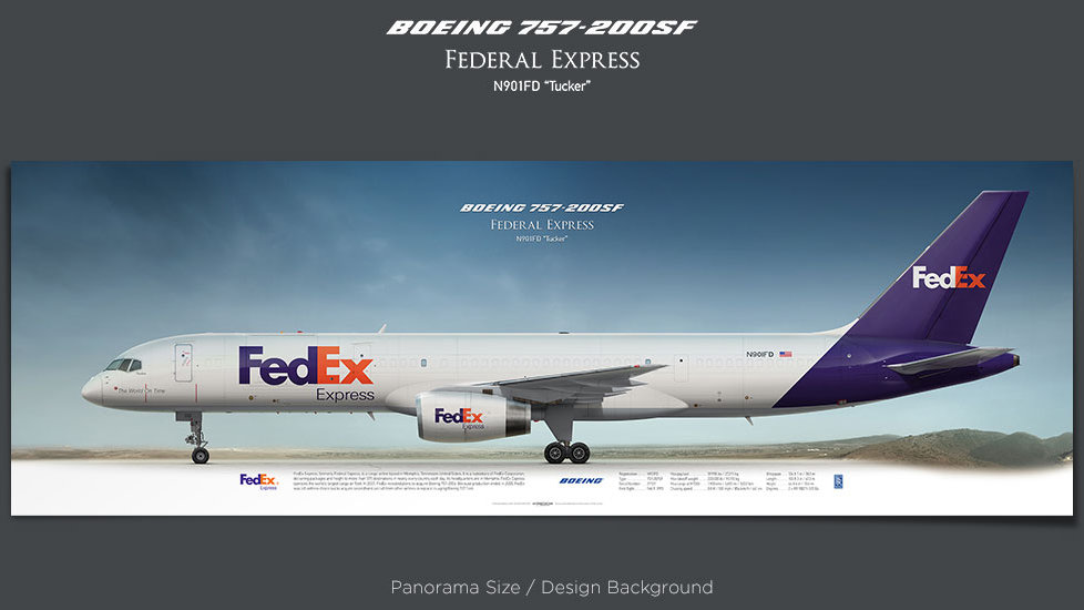 Boeing 757-200SF FedEx Express, plane prints, retired pilot gift, aviation posters, airliners prints, cargo plane prints