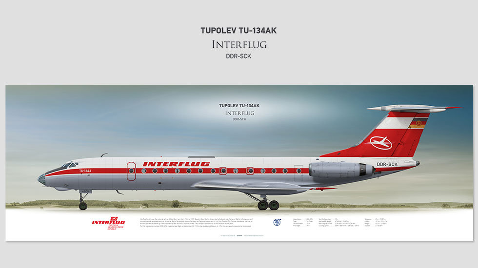 Interflug Tupolev Tu-134 DDR-SCK