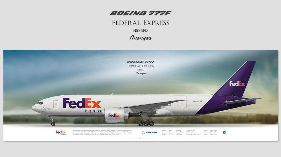FedEx Express Boeing 777F N884FD