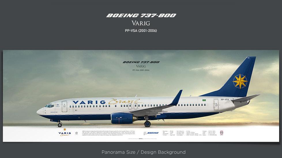 Boeing 737-800 Varig, plane prints, retired pilot gift, aviation posters, airliners prints, civil aircraft, jetliner, VRG