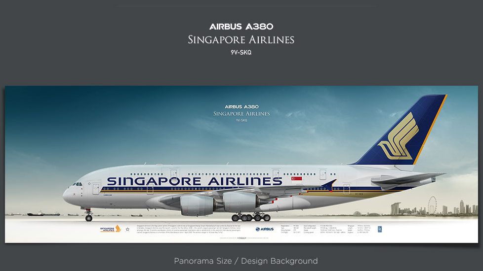 Airbus A380 Singapore Airlines, plane prints, retired pilot gift, aviation posters, superjumbo, airliners, jetliner, bigplane