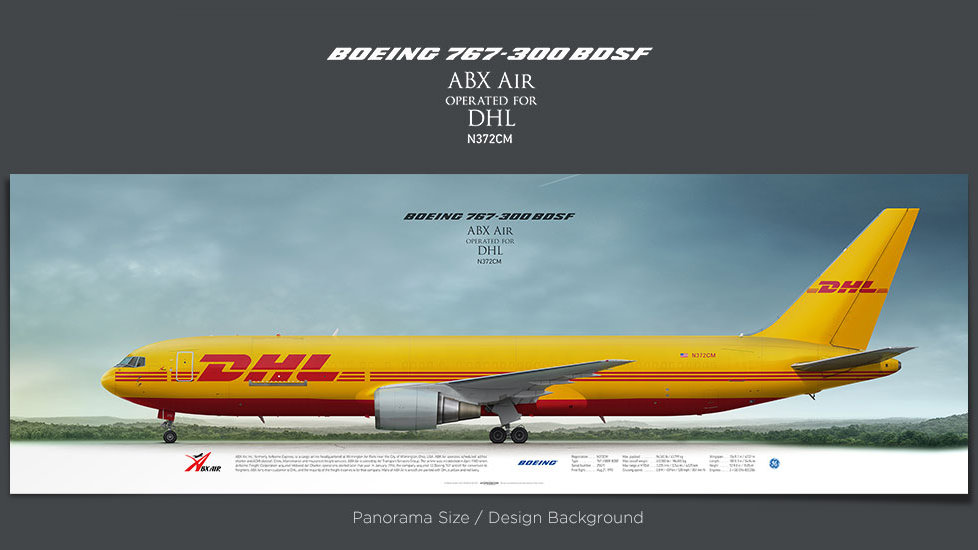 Boeing 767-300 BDSF ABX Air, plane prints, airplane poster, retired pilot gift, airline prints, cargo plane prints