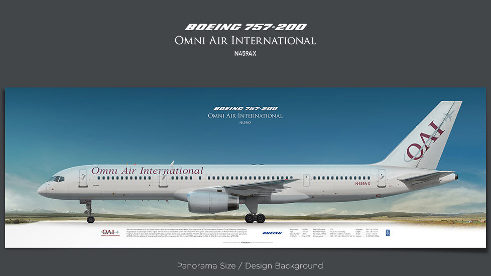 Boeing 757-200 Omni Air, plane prints, retired pilot gift, aviation posters for sale, boeing poster, jetliner prints, OAE