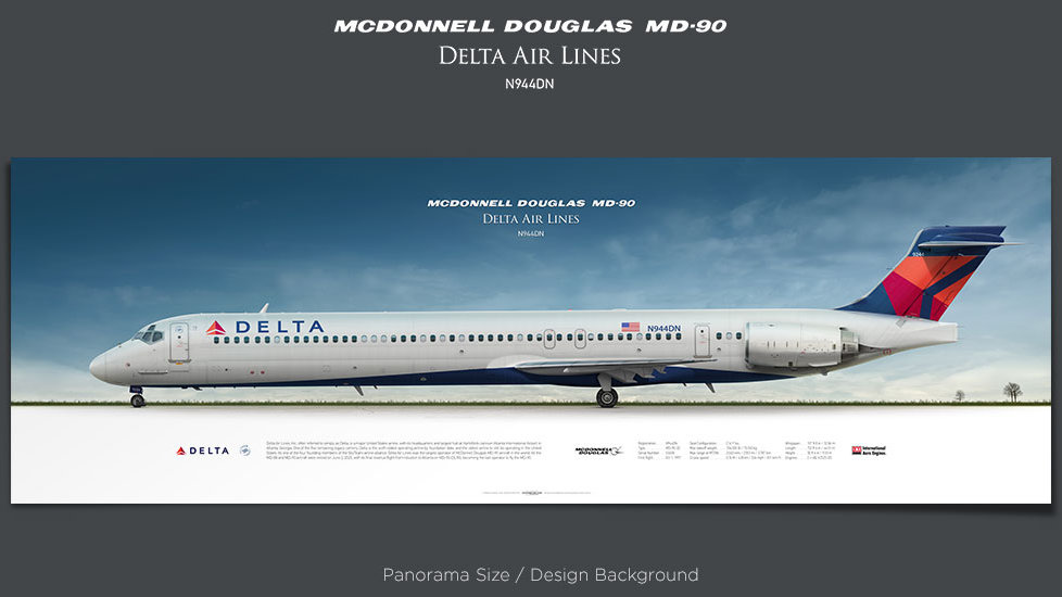 McDonnell Douglas MD-90 Delta Air Lines, plane prints, retired pilot gift, aviation posters, airliners prints, Jetliner