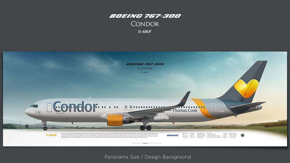 Boeing 767-300 Condor, plane prints, retired pilot gift, aviation posters for sale, jetliner prints, boeing poster