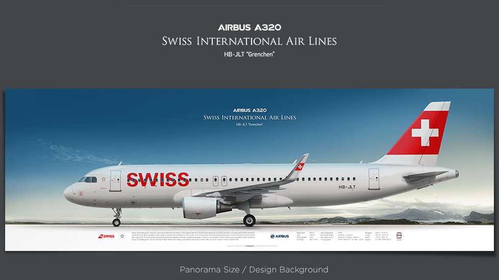 Airbus A320 Swiss International Air Lines, plane prints, retired pilot gift, aviation posters, jetliner prints, SWR